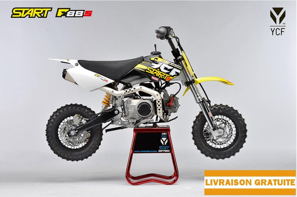 La dirt bike YCF START F88 S parfaite pour les enfants débutant