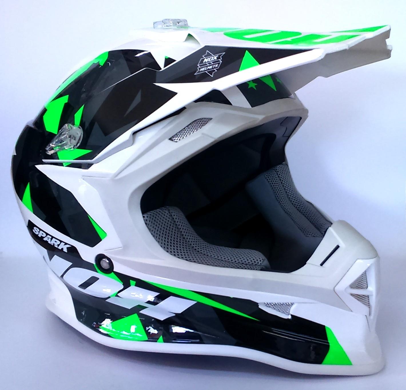 Protection Moto Casque Nox Spark Adulte Vert