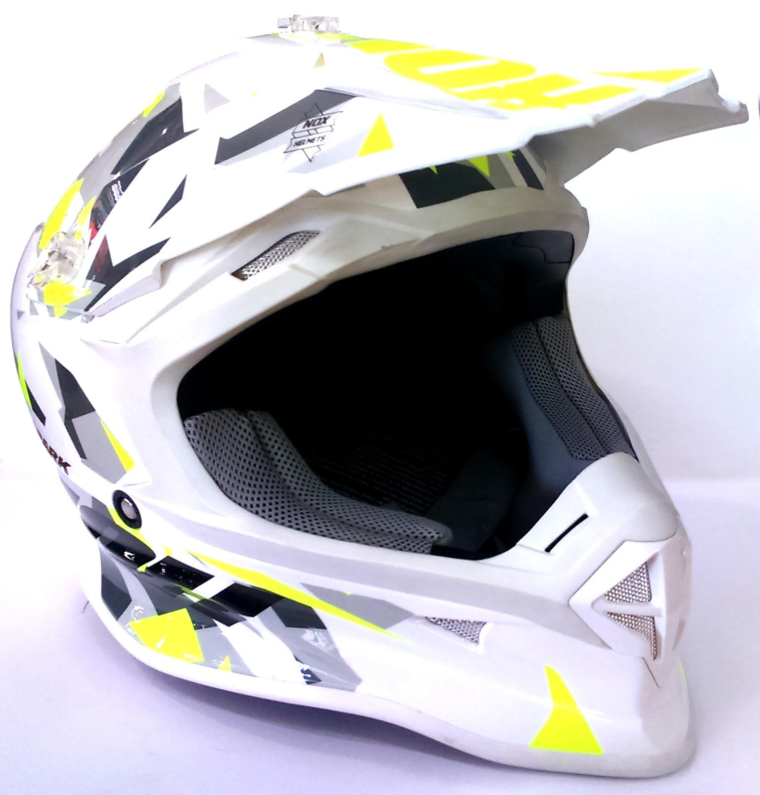 Protection Moto Casque Nox Spark Adulte Jaune