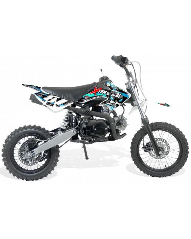 Dirt 110cc 4T roues 14/12 Semi-Auto