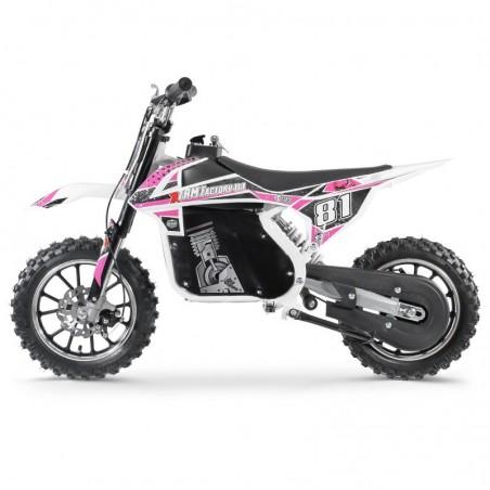 Moto Cross Electrique 500W Enfant - White Edition