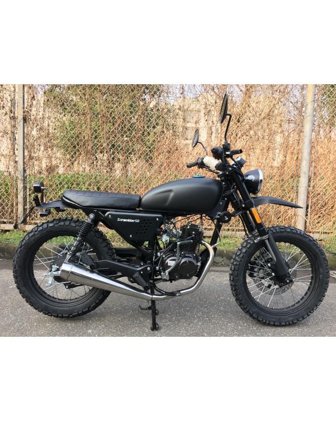 Moto Scrambler 50 Flat Black