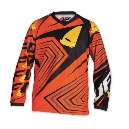 maillot cross enfant 7 - 10 ans orange