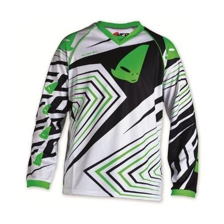 maillot cross enfant 7 - 10 ans vert