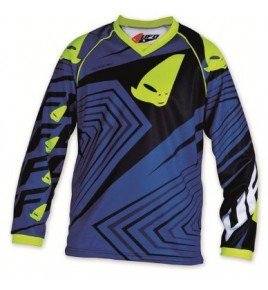 maillot cross enfant 7 - 10 ans bleu