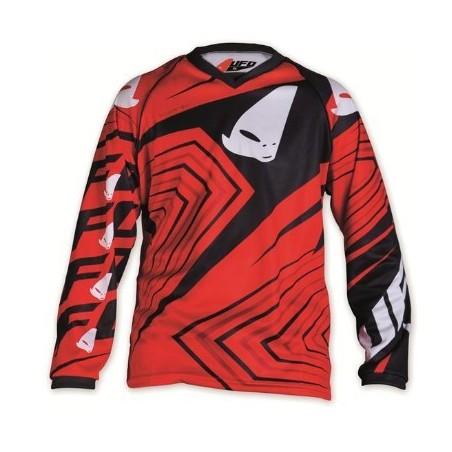 maillot cross enfant 7 - 10 ans rouge