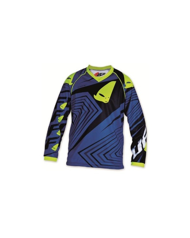 maillot cross enfant 10 - 13 ans bleu